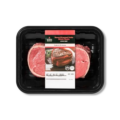 Bacon Wrapped Petite Sirloin Steaks - 16oz - Archer Farms™ - image 1 of 1