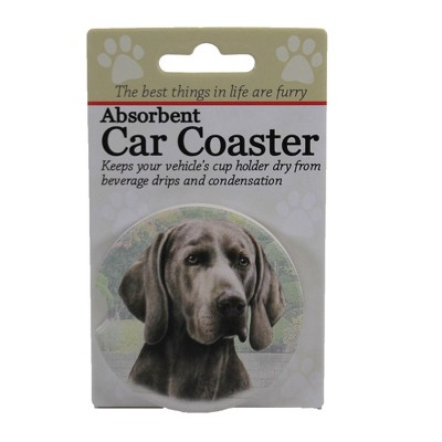 "Car Coaster 2.5"" Weimeraner Car Coaster Absorbant E & S Pet  -  Coasters"