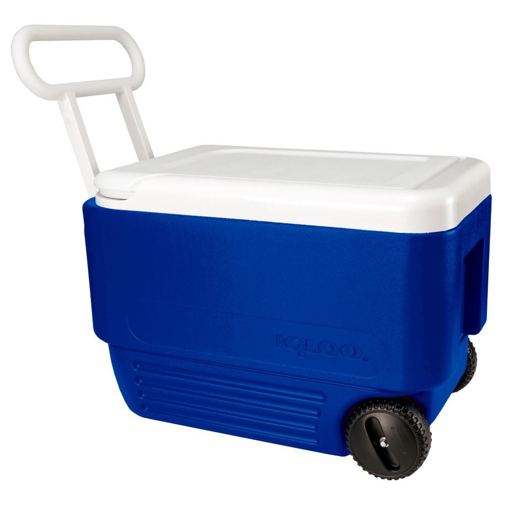 Image of Igloo Wheelie Cool 38 Quart Cooler, Blue