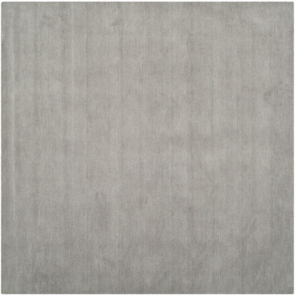 Solid Tufted Square Area Rug Gray