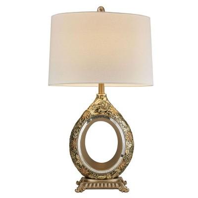 "OK Lighting 30.5""H Chrysanthemum Table Lamp"