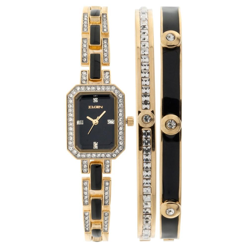 Women's Elgin Watch - Black, Gold