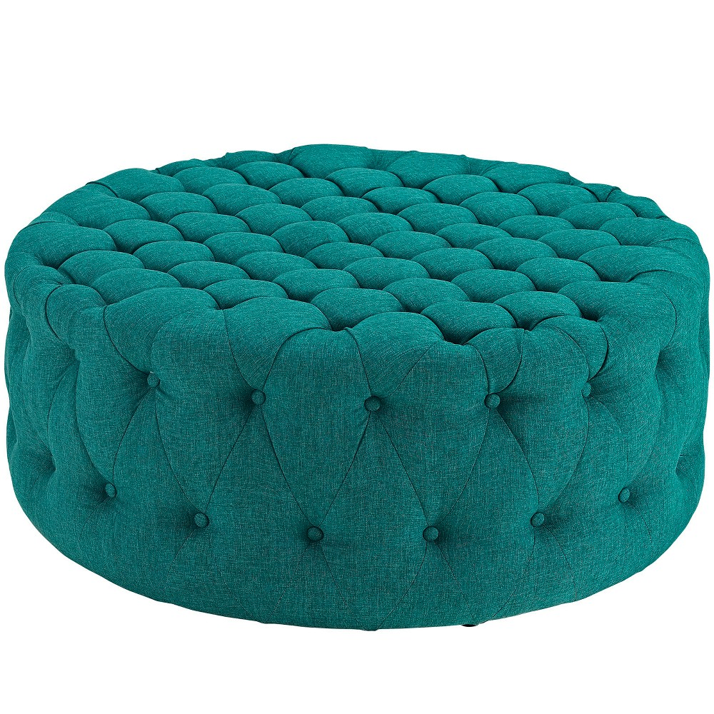 Super Amour Upholstered Fabric Ottoman Teal Blue Modway Cjindustries Chair Design For Home Cjindustriesco