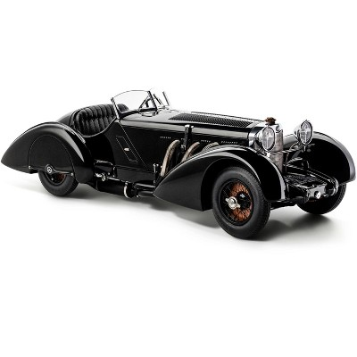 """1932 Mercedes Benz SSK Trossi """"The Black Prince"""" 1/18 Diecast Model Car by CMC"""