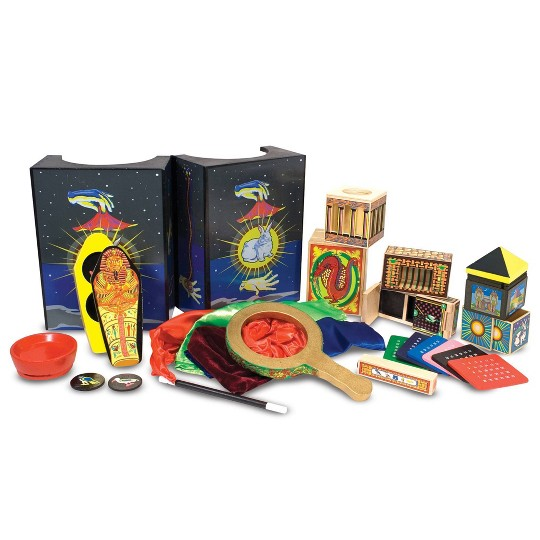 Melissa & Doug Deluxe Solid-Wood Magic Set With 10 Classic Tricks image number null