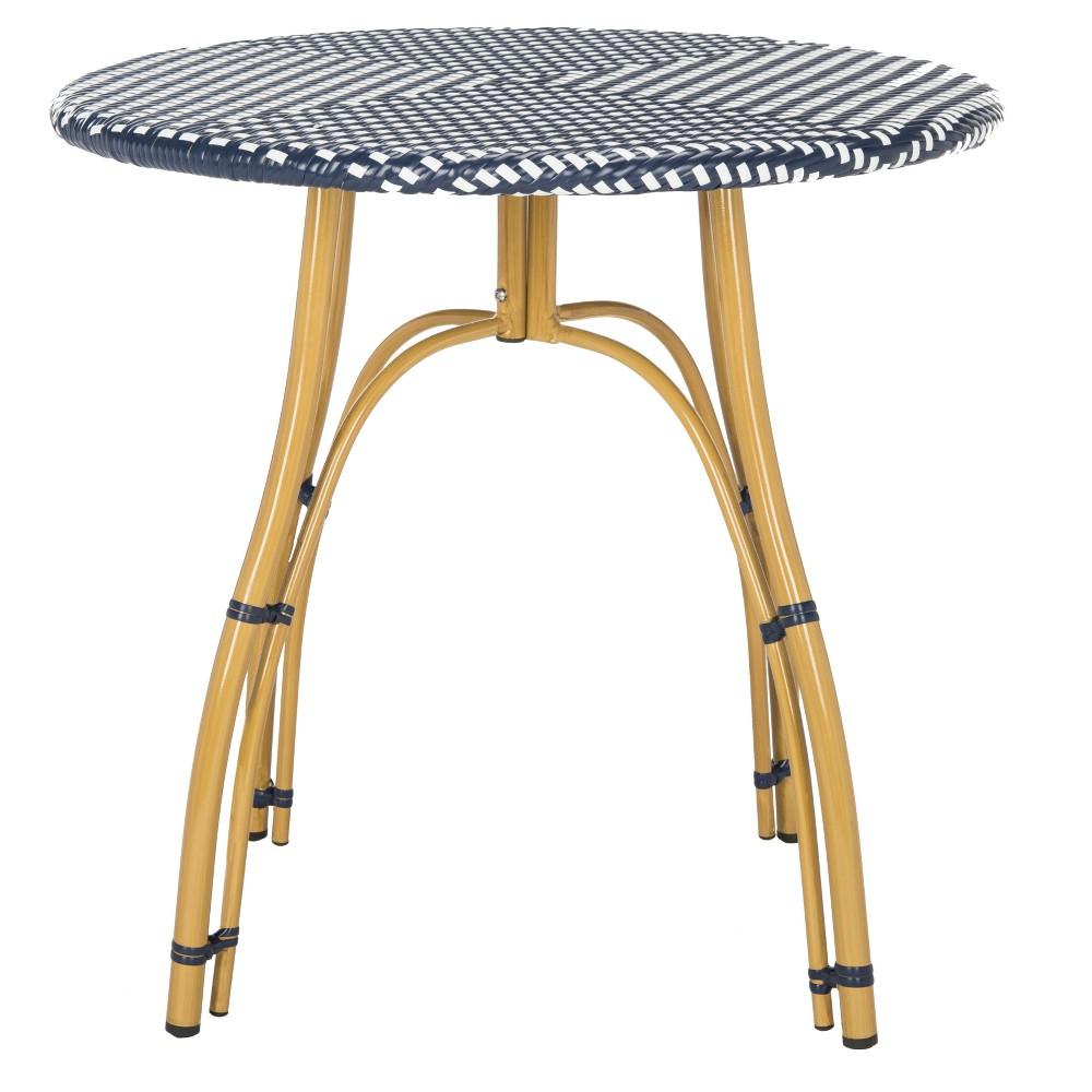Kylie Bistro Table - Navy (Blue)/White - Safavieh
