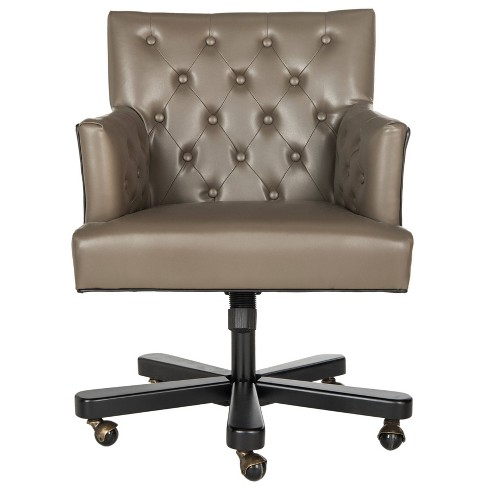 Chambers Desk Chair Taupe - Safavieh - image 1 of 6