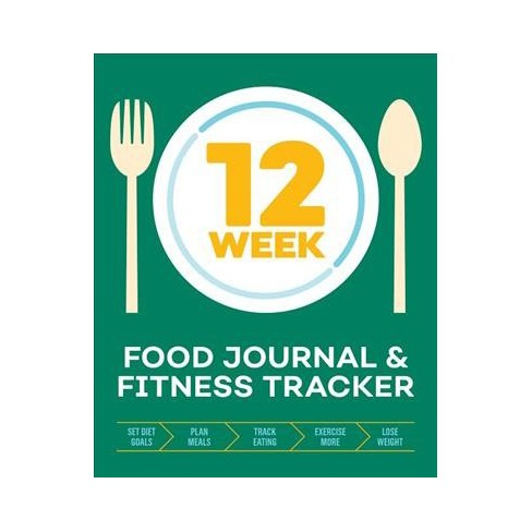 12 week food journal fitness tracker track eating plan meals