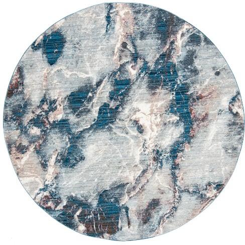 Loomed Area Rug Blue Ivory Safavieh