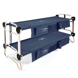 Disc-O-Bed Large Cam-O-Bunk Bunked Double Camping Cot w/ Organizers, Navy Blue