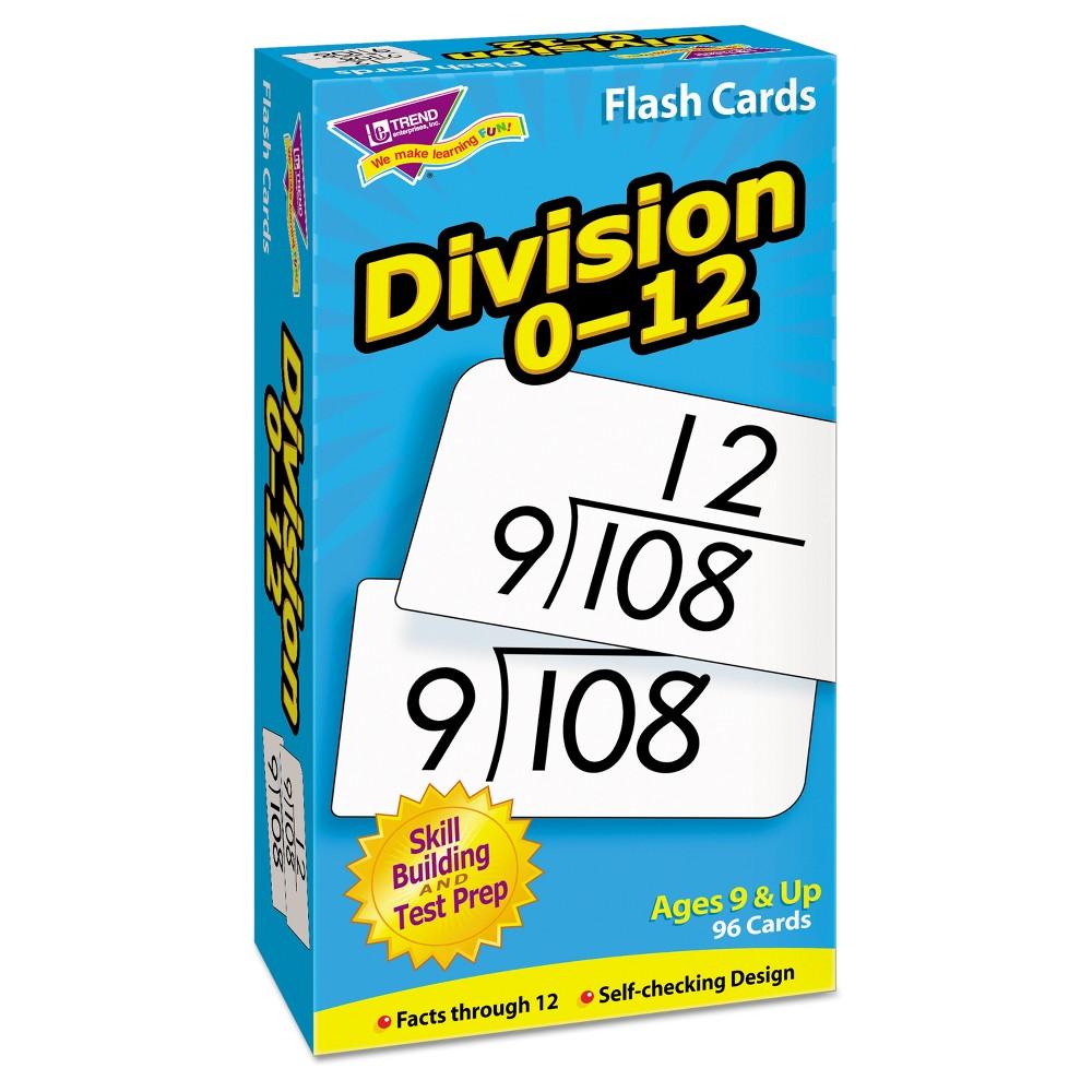 Trend Skill Drill Flash Cards, 3 x 6, Division, Multi-Colored