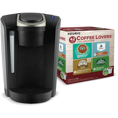 Keurig K-Select Single-Serve Coffee Maker with Free 42 Ct Coffee Lovers' Collection K-Cup Pod Variety Pack