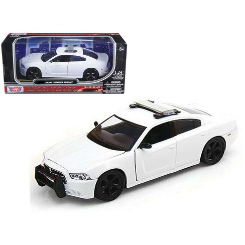 White Dodge Charger >> Dodge Charger Pursuit Unmarked White Police Car 1 24 Diecast Model Car By Motormax