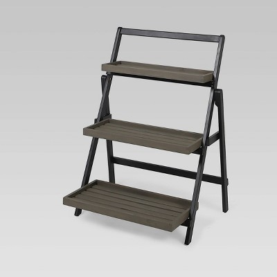 Rectangular Meridien Acacia Wood Plant Stand Gray - Christopher Knight Home