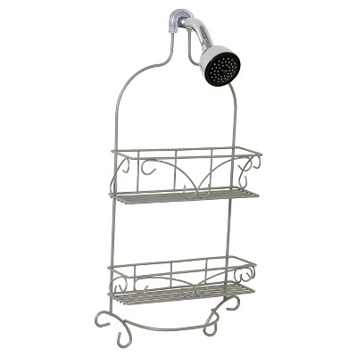 Over the Shower Head Scroll Design Caddy Satin Nickel - Zenna Home
