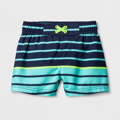Baby Boys' Stripe Swim Trunks - Cat & Jack™ Navy 9M