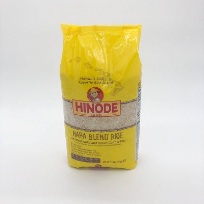 Hinode Hapa Blend Enriched White and Brown Calrose Rice - 5lbs