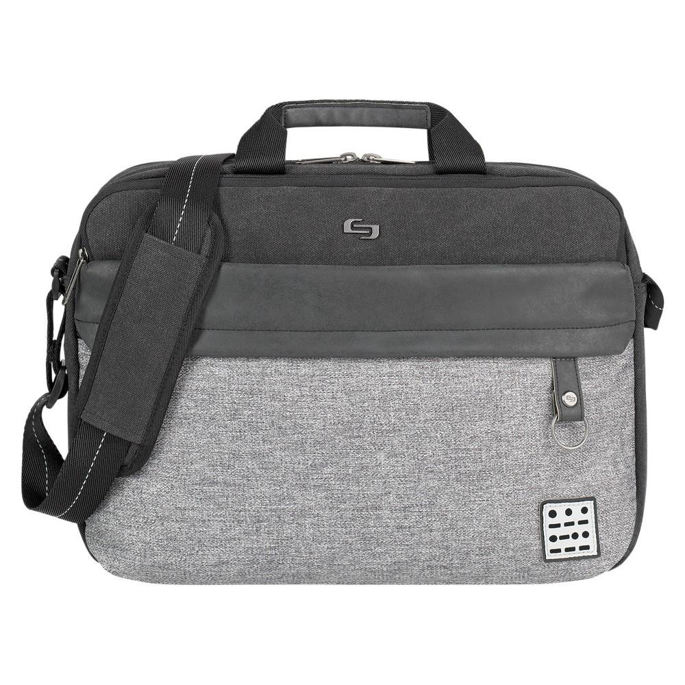 Solo Venture 15.6 Rfid Briefcase - Gray/Black