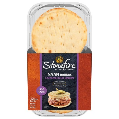 Stonefire Caramelized Onion Naan Rounds - 12ct