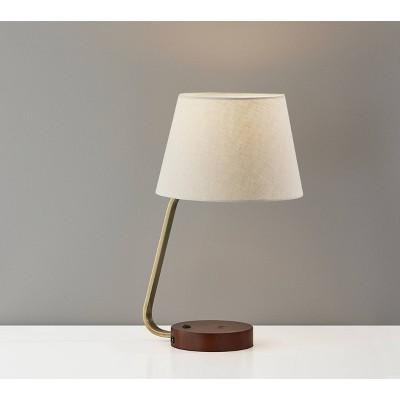 Louie Desk Lamp Antique Brass - Adesso