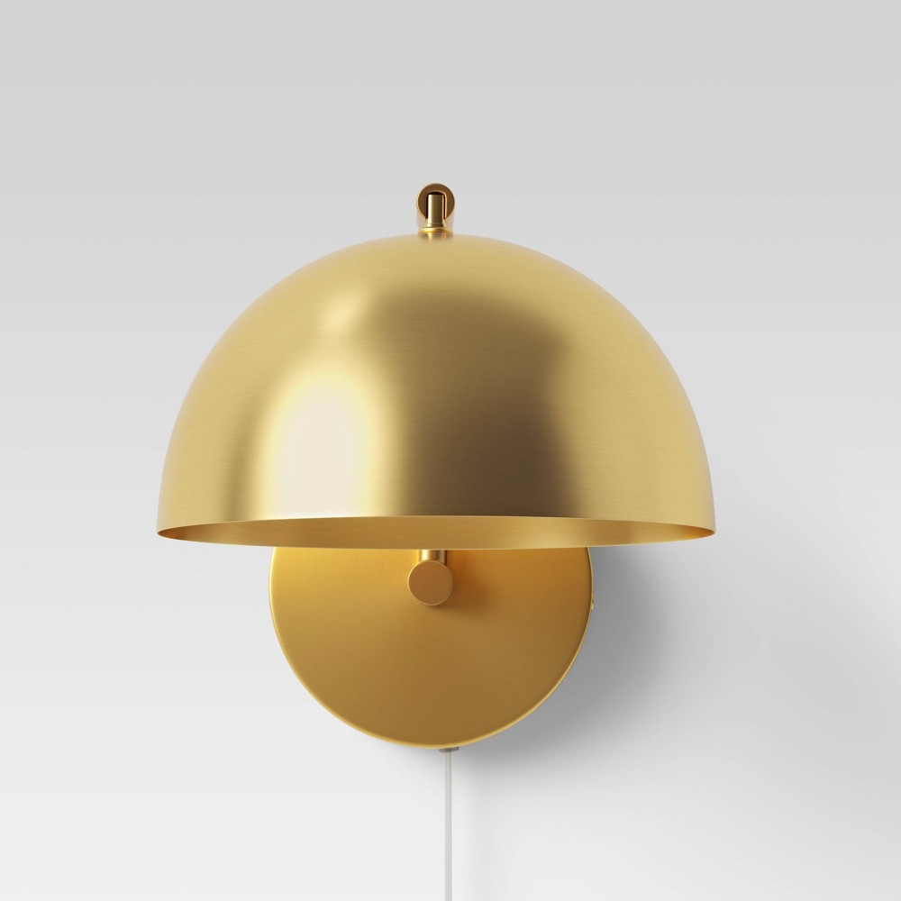 Image of Valencia LED Sconce Lamp Brass (Includes Energy Efficient Light Bulb) - Project 62 , Gold