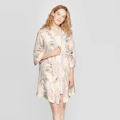 Women's Palm Print Simply Cool Robe - Stars Above™ Pink - image 1 of 2