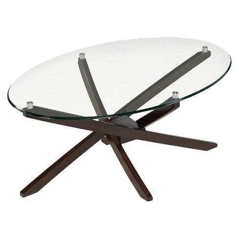 Xenia Oval Cocktail Table Espresso - Magnussen Home - image 1 of 2
