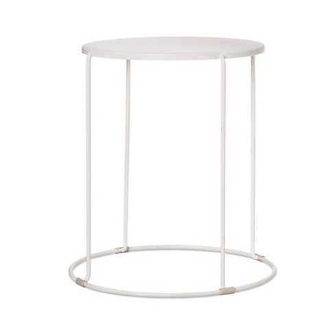 Round Patio Side Table White Project 62
