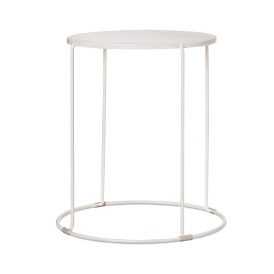 Round Patio Side Table   White   Project 62™