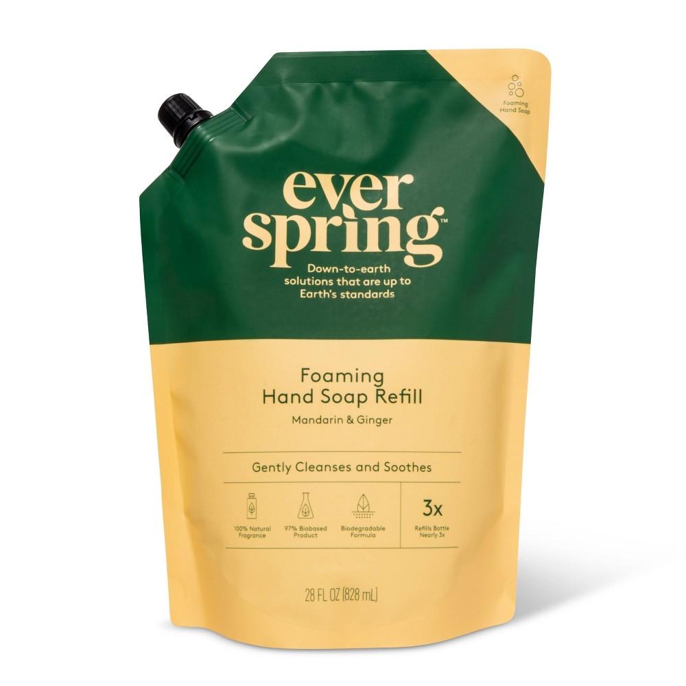 Foam Hand Soap Refill Mandarin 38 Ginger 28 Fl Oz Everspring 8482