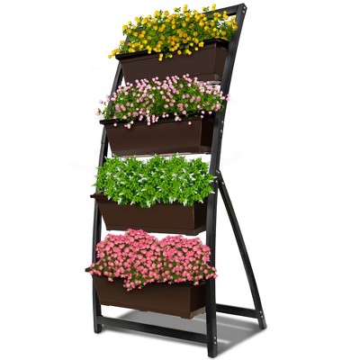Outland Living 6-Ft Raised Garden Bed - Vertical Garden Freestanding Elevated Planter with 4 Container Boxes