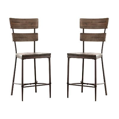 3pc Jennings Dining Set Distressed Walnut Finished Wood Brown - Hillsdale Furniture