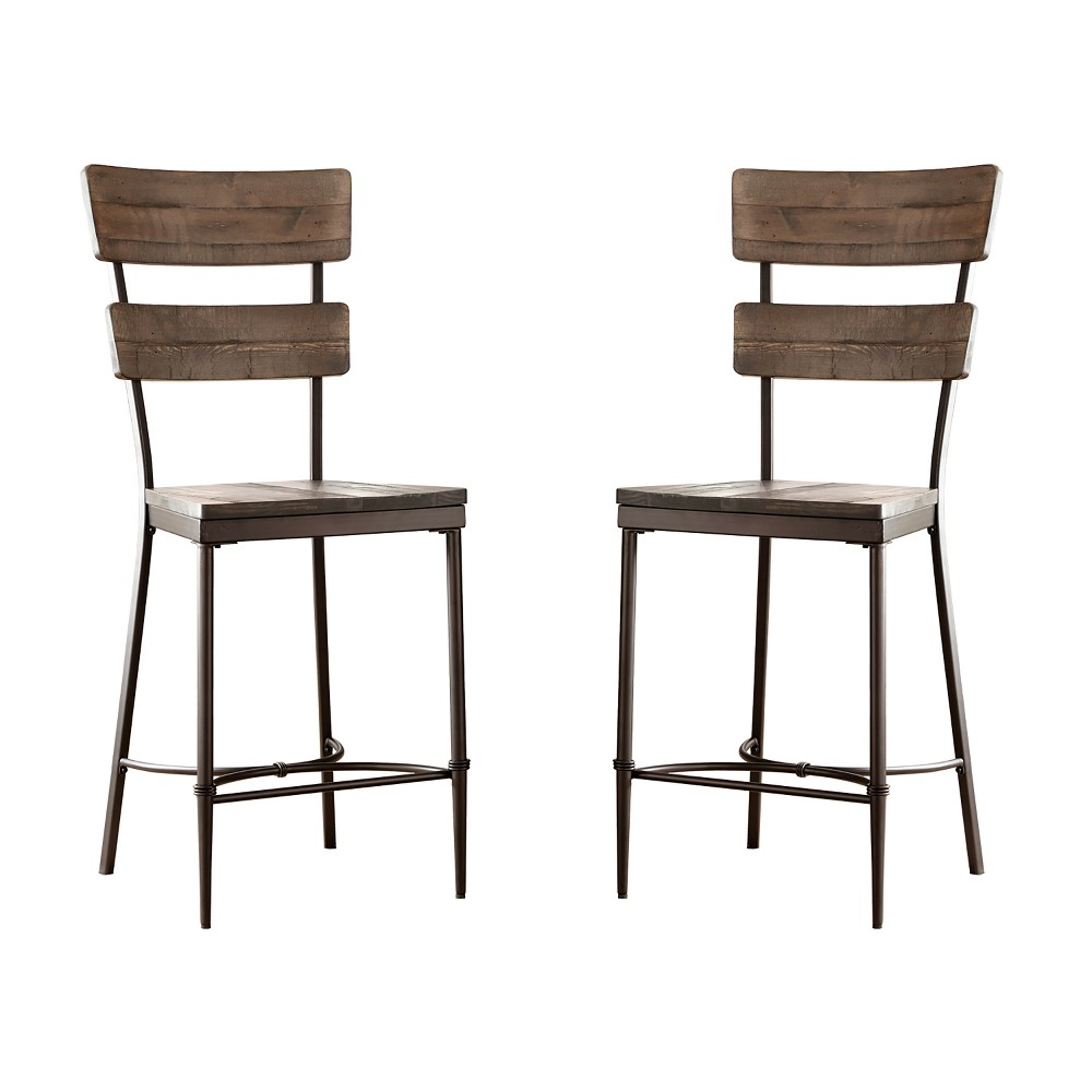 Jennings 3pc Dining Set Distressed Walnut Finished Wood Brown - Hillsdale Furniture