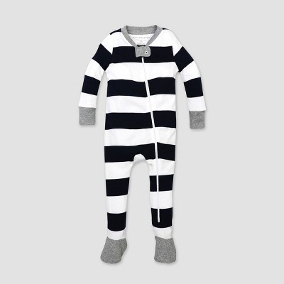 Burt's Bees Baby® Baby Rugby Stripe Organic Cotton Snug Fit Footed Pajama - Blue 18M