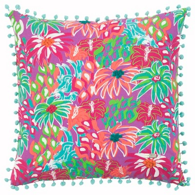 Simply Southern Floral Throw Pillow Purple - Rizzy Home