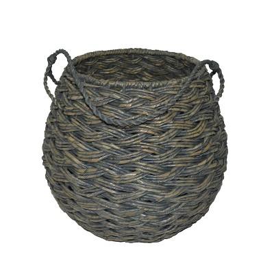 12.75 x14.25  Medium Round Basket Gray - Threshold™