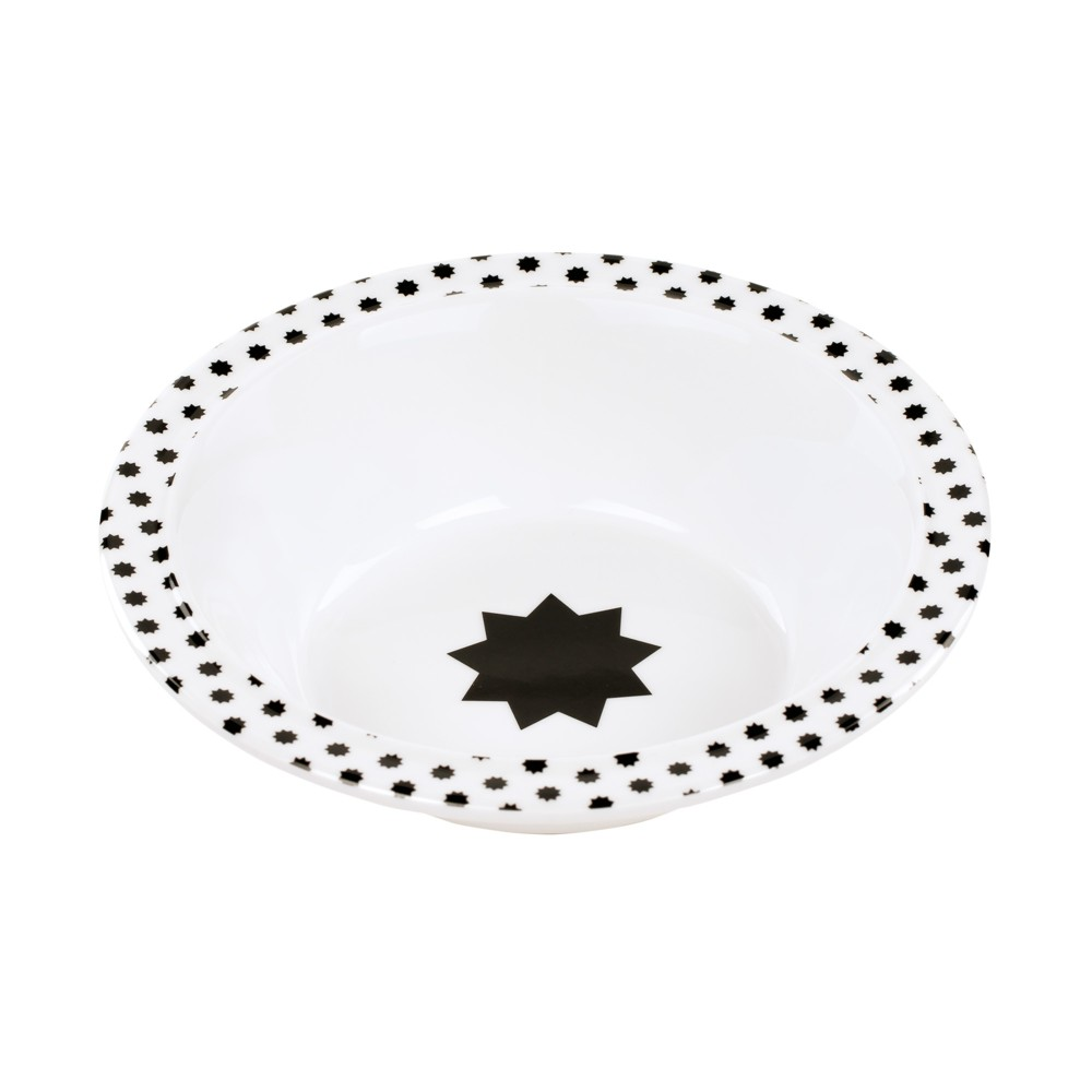 Image of Lassig Little Chums Cat Bowl - Gray/White
