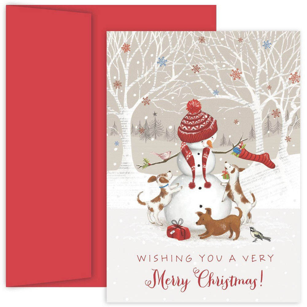Image of 18ct Snowman & Friends Greeting Cards - Masterpiece Studio
