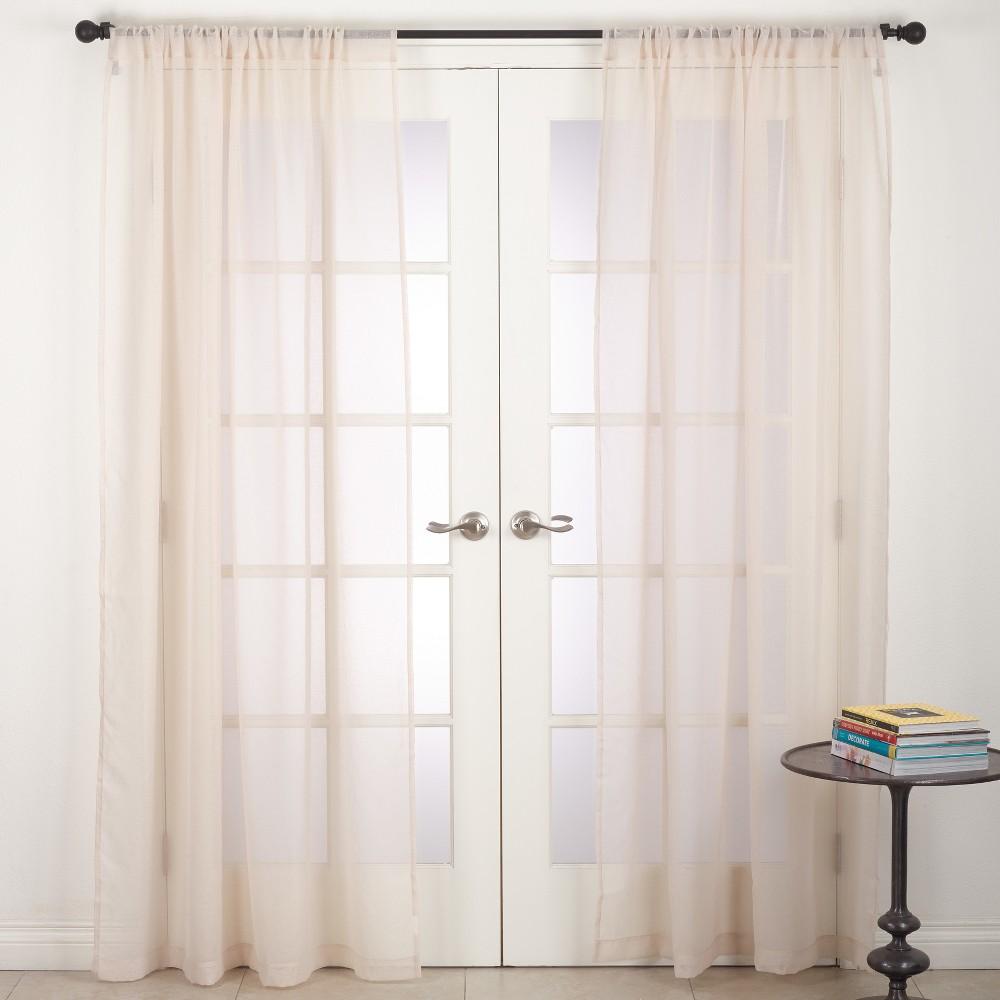 Curtain Panels Saro Lifestyle Light Off-white Solid