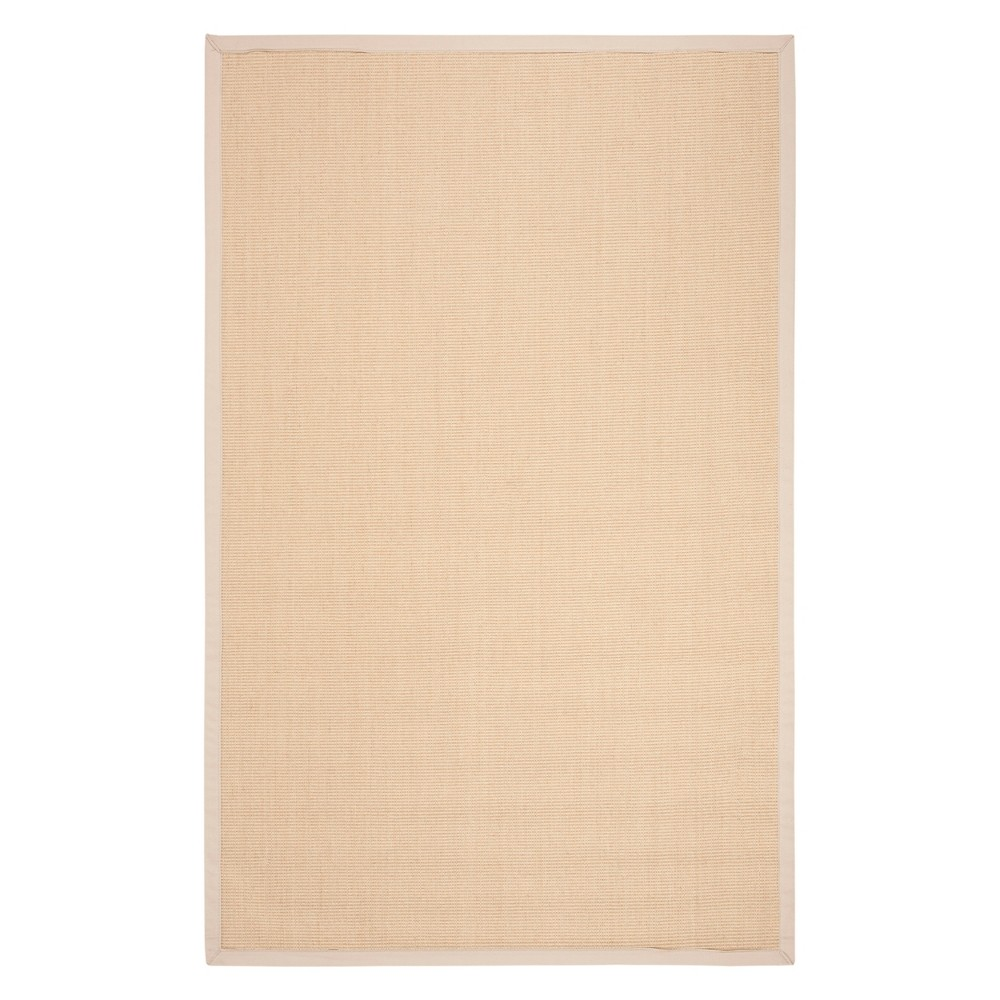 5'X8' Solid Loomed Area Rug Natural/Ivory - Safavieh