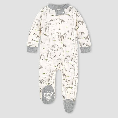 Burt's Bees Baby® Baby Organic Cotton Polar Explorer Sleep N' Play - Off-White/Gray Newborn