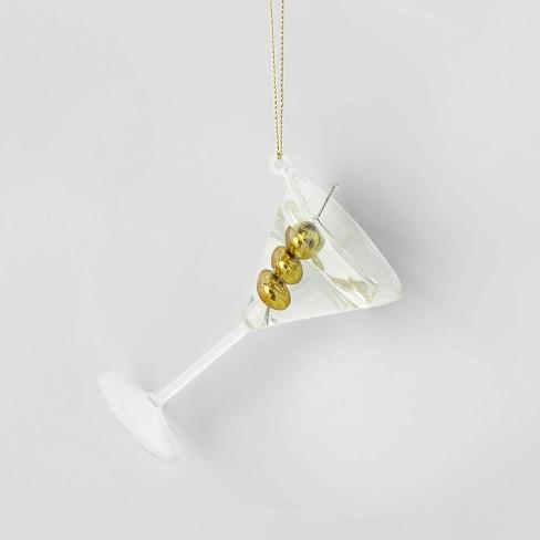 Glass Martini & Olive Cocktail Christmas Tree Ornament - Wondershop™ - image 1 of 2