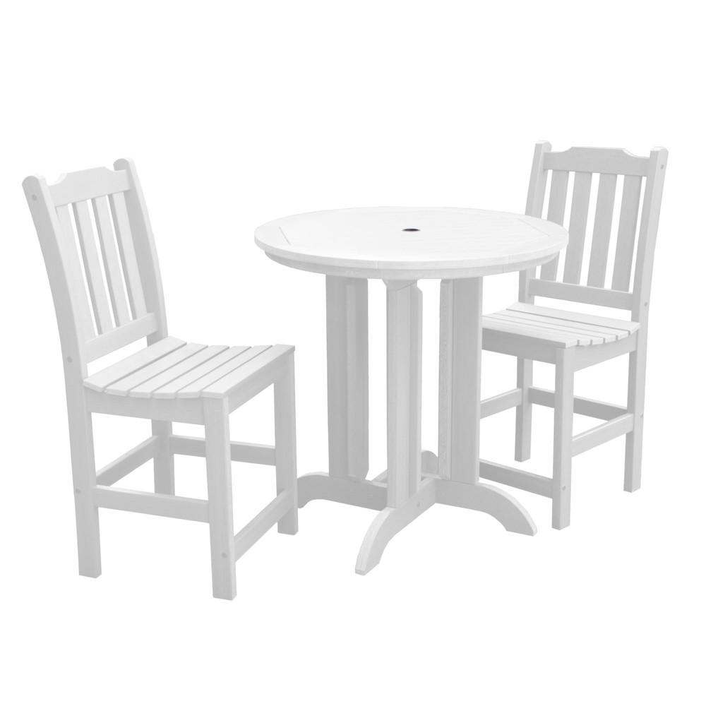 Lehigh 3pc Round Counter Dining Set White - Highwood