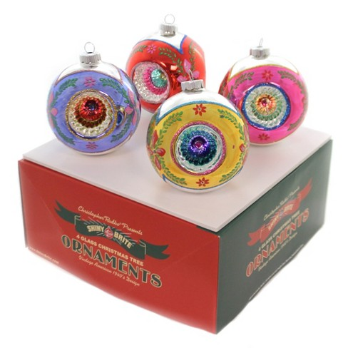 "Shiny Brite 4.0"" Cc Rounds With Reflectors. Christmas Confetti Ornament - image 1 of 2"