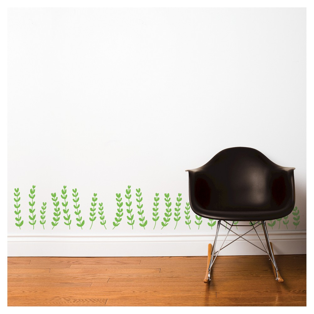 Image of Gitte Wall Decal - Green, Wall Decal