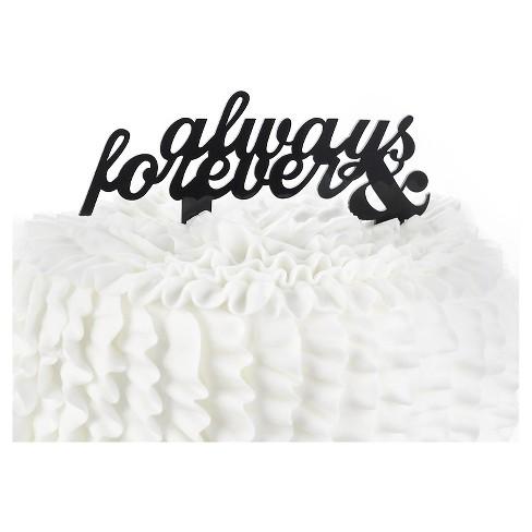 Wedding Cake Topper Always & Forever - image 1 of 1