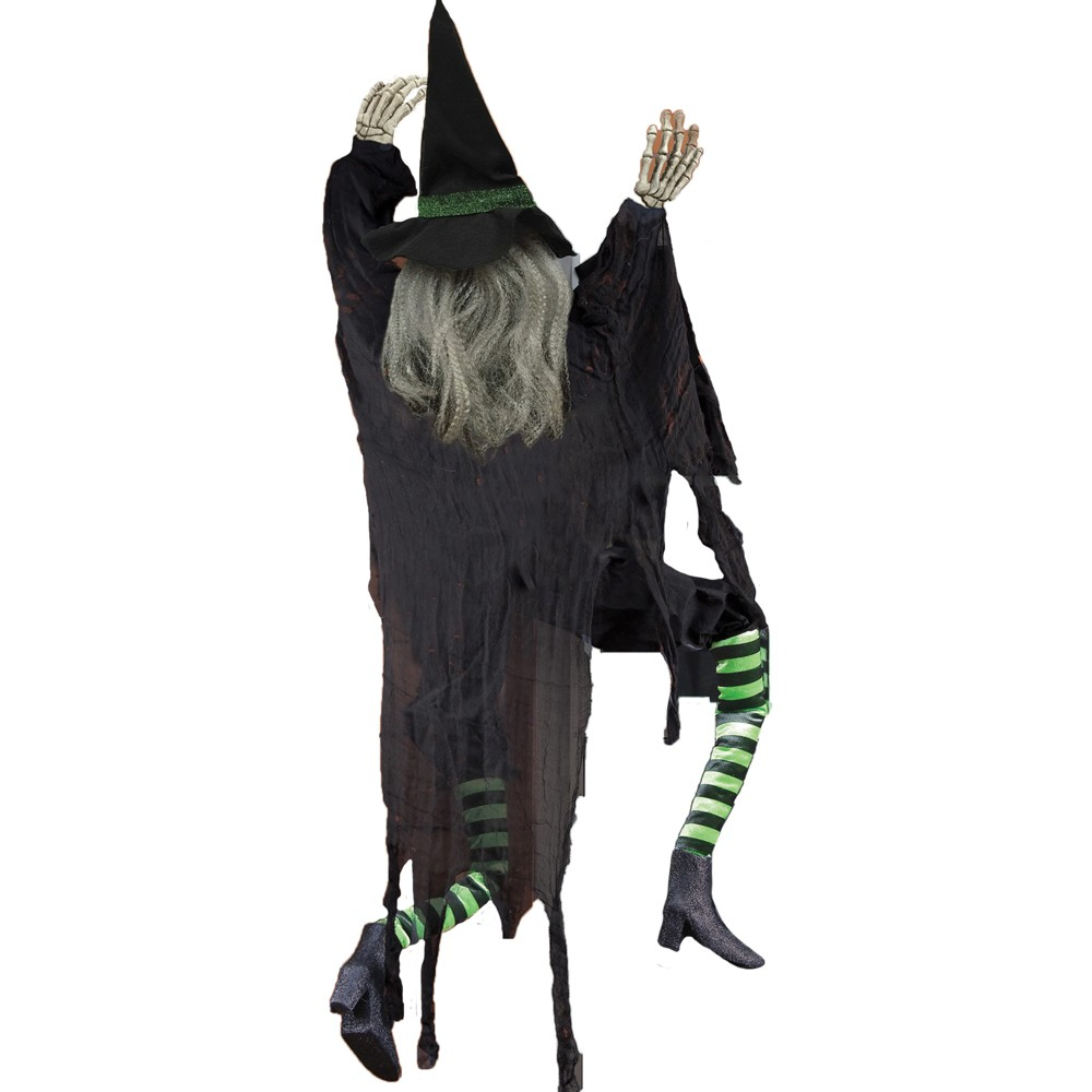 Image of 5' Halloween Climbing Witch, Multi-Colored