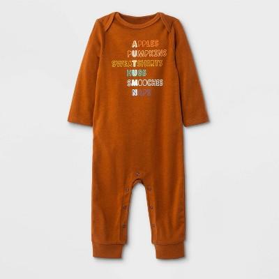 Baby Boys' Fall Graphic Romper - Cat & Jack™ Orange Nwborn