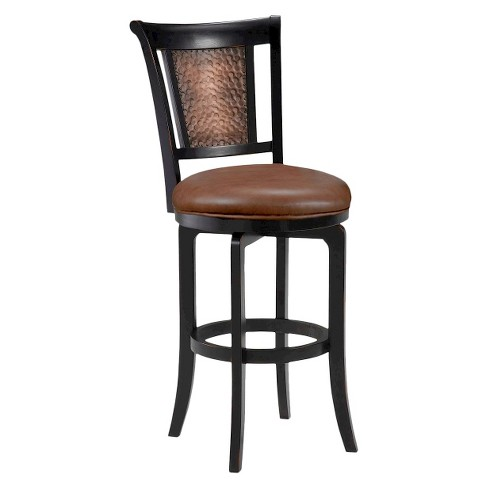 "30.5"" Cecily Swivel Counter Stool Wood Composite/Black - Hillsdale Furniture - image 1 of 1"