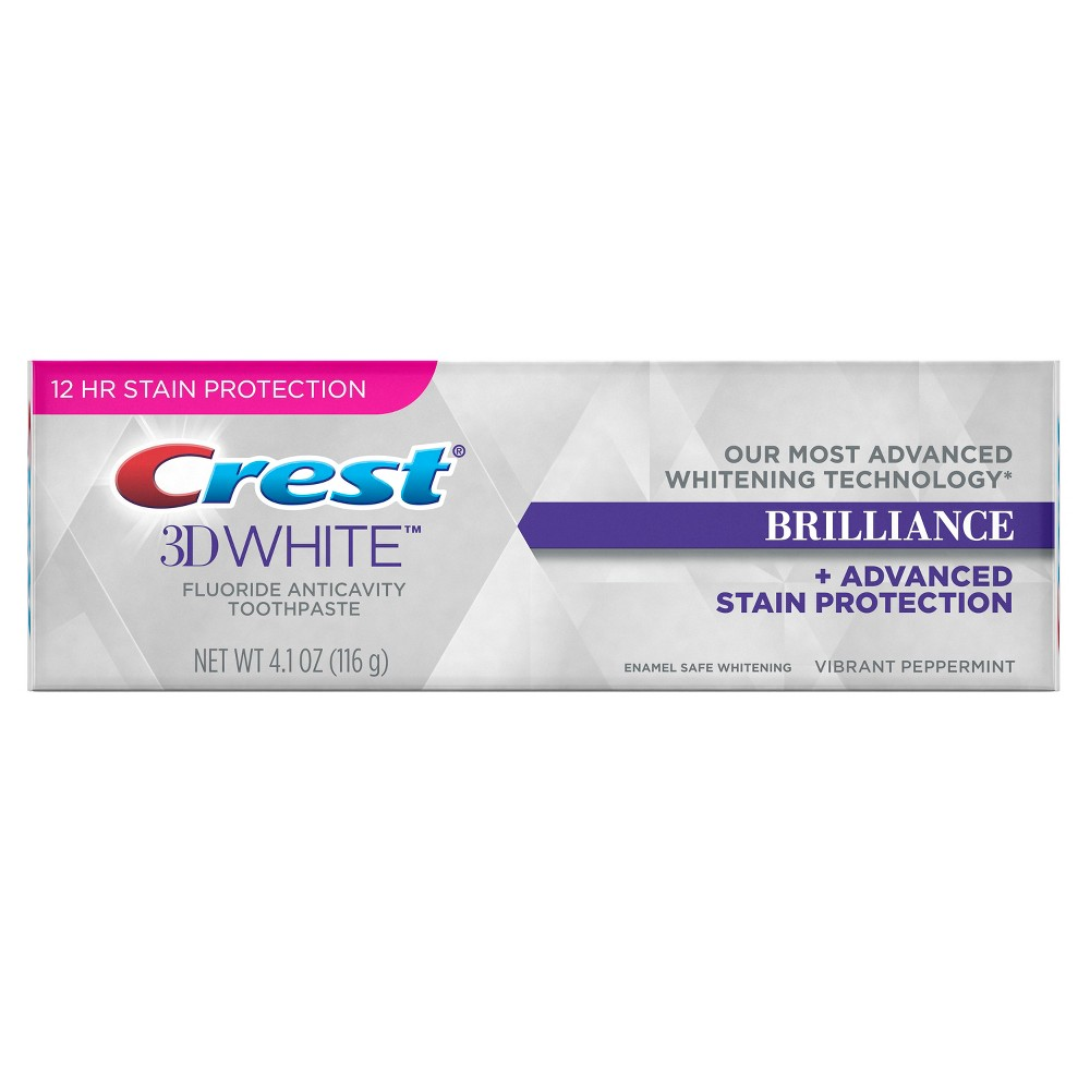 Image of Crest 3D White Brilliance Whitening Toothpaste - Vibrant Peppermint - 4.1oz